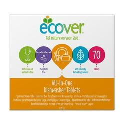 Ecover opvasketabs all in one, 70tab.