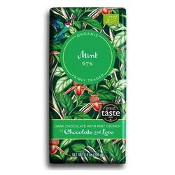 Chocolate and Love Chokolade Mint 67% Ø, 80g.