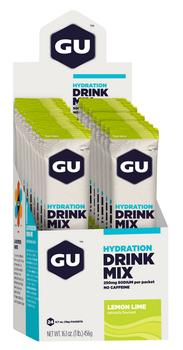 GU Energy Hydration Drink Mix Lemon Lime Stick, 24stk.