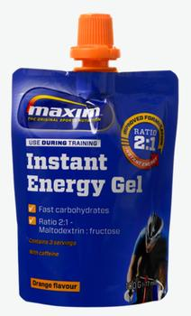 Maixm Energy Gel Orange w. caffeine, 24x100g.