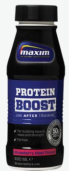 Maxim Protein Boost Strawberry, 12x480ml.