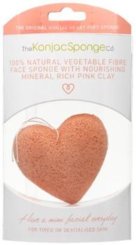 The Konjac Sponge Face, pink clay for tired or devitalised skin, pink, 1stk. æske