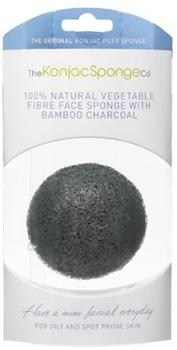 The Konjac Sponge Face, bamboo charcoal for oily and spot phone skin, sort, 1stk æske