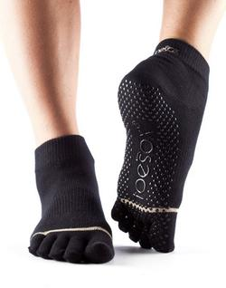 Toesox Fulltoe Ankle Grip (Sort)