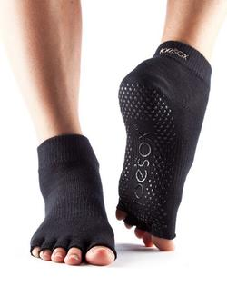 Toesox Halftoe Ankle Grip (Sort)