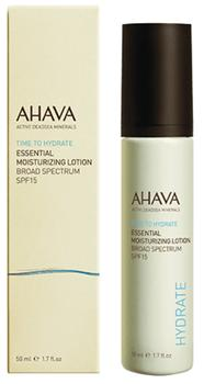 Ahava Essential moisturizing lotion broad spectrum SPF15, 50ml.