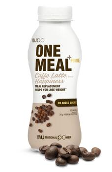 Nupo One Meal +Prime Shake – Caffe Latte Happiness, 330ml.