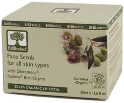 Bioselect BioEco Face scrub, 50ml.