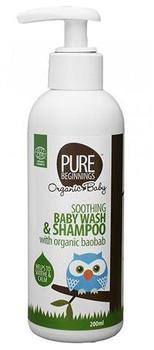 Pure beginnings Soothing baby wash & shampoo, 200ml.