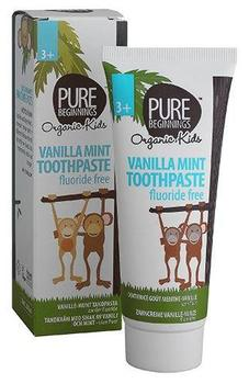 Pure beginnings Vanilla mint toothpaste +3 år, 75ml.