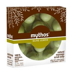 Mythos Natural massage scrub soap olive leaves