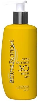 Beaute Pacifique Solcreme Stay Outside 30 SPF til hele kroppen, 200ml.