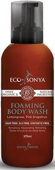 Eco by Sonya Foaming body wash m. forfriskende citrongræs, 450ml.