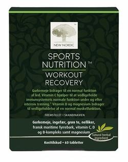 New Nordic Sports Nutrition Workout Recovery 60 kap.
