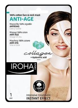 Iroha Face & neck anti-age mask collagen 1 pk.