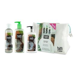 Faith in nature Kokos gavesæt 2016 shower gel, body lotion, flyd. håndsæbe, 1 pk.