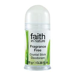 Faith in nature Krystal Deodorant Fragrance Free, 100 g.
