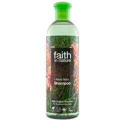 Faith in nature Shampoo aloe vera til alle hårtyper, 250 ml.