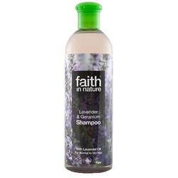 Faith in nature Shampoo lavendel til normalt/tørt hår, 250 ml.