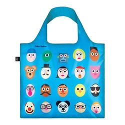 Shopper Loqi Blue Faces Øko-Tex certificeret, 1 stk