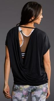 Onzie Drop Back Top, Black, one size