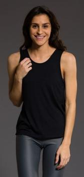 Onzie V Back Tank, Black, one size
