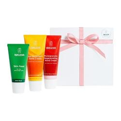 Weleda Gaveæske Hand Cream Trio Skin Food,handcream Sea Buckthorn og Pomegranate