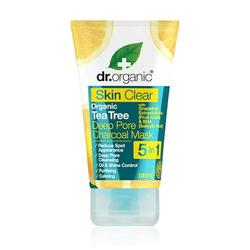 Organic tea tree deep pore charcoal mask Dr. Organic Skin Clear, 100 ml