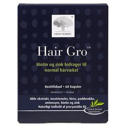 Hair Gro New Nordic, 60 kap / 45,30 g