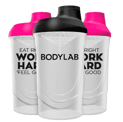 Bodylab Shaker Bottle White Black
