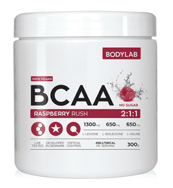 Bodylab BCAA Instant - Raspberry Rush, 300g.
