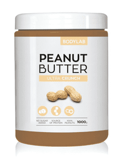 Bodylab Peanut Butter - Ultra Crunch, 1kg.