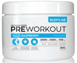 Bodylab Pre Workout - Blue Raspberry, 200g.