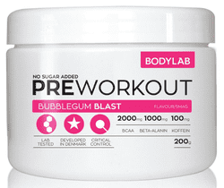 Bodylab Pre Workout - Bubblegum Blast, 200g.