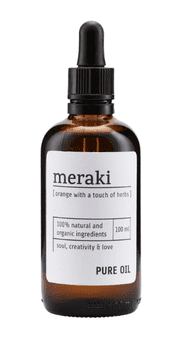 Meraki Body oil, Orange & Herbs, 100 ml.
