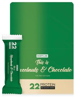 Bodylab Protein Bar Hazelnuts & Chocolate, 12x65g.