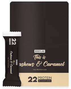 Bodylab Protein Bar Cashews & Caramel, 12x65g.