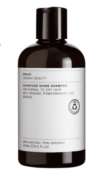 Evolve SUPERFOOD SHINE SHAMPOO, 250 ml.