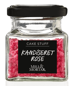 Kandiseret Rose - Mill & Mortar, 40 g.