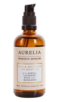 Aurelia Firm & Revitalise Dry Body Oil, 100ml.