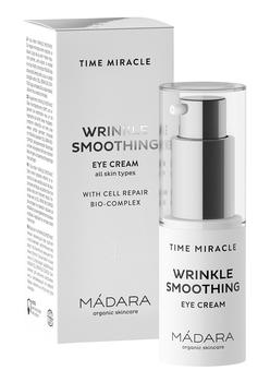 MÁDARA TIME MIRACLE Wrinkle Smoothing Eye Cream, 15 ml.