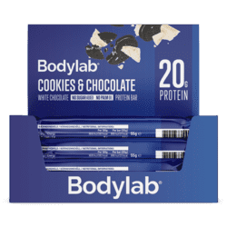 Bodylab Proteinbar Cookies & White Chocolate, 12 x 65 g.
