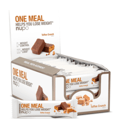 Nupo One Meal Bar Toffee Crunch, 24stk.