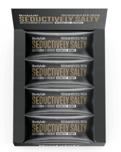Bodylab Protein Bar Salted Almonds, Seductively Salty, 12x65 g.