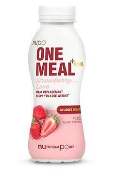 Nupo One Meal +Prime Shake – Strawberry Love, 330ml.
