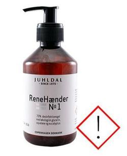 Juhldal ReneHænder No1 håndsprit, 250ml.