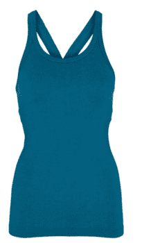 Bella Beluga Y-Back Tank, Harbour Blue