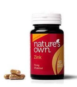 Natures Own Zink Wholefood, 60kap
