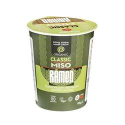 King Soba Classic Miso Ramen instant cup Ø, 85g.