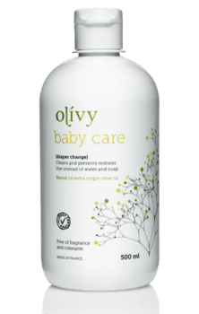 Olivy Baby Care til bleskift, 500ml.